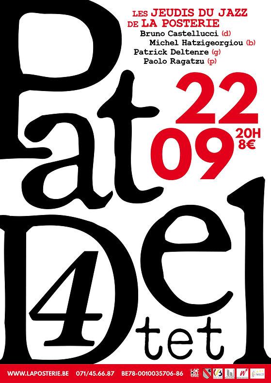 Affiche pour le concert de jazz fusion du Pat Del Quartet