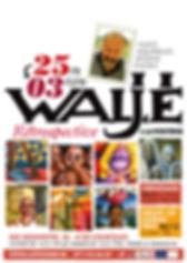 Affiche pour la rétrospective du peintre WALJÉ - Exposition