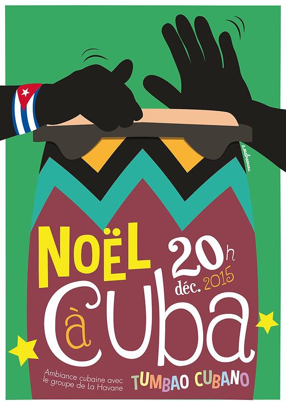 Affiche pour le concert de musique cubaine du groupe Tumbao Cubano (1)
