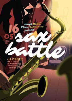 """Affiche """"Sax Battle"""""""