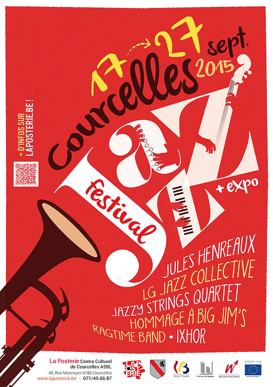 Affiche pour le Courcelles Jazz Festival