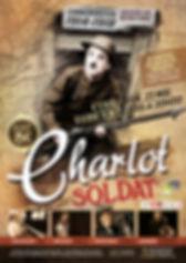 Affiche pour le ciné-concert Charlot Soldat