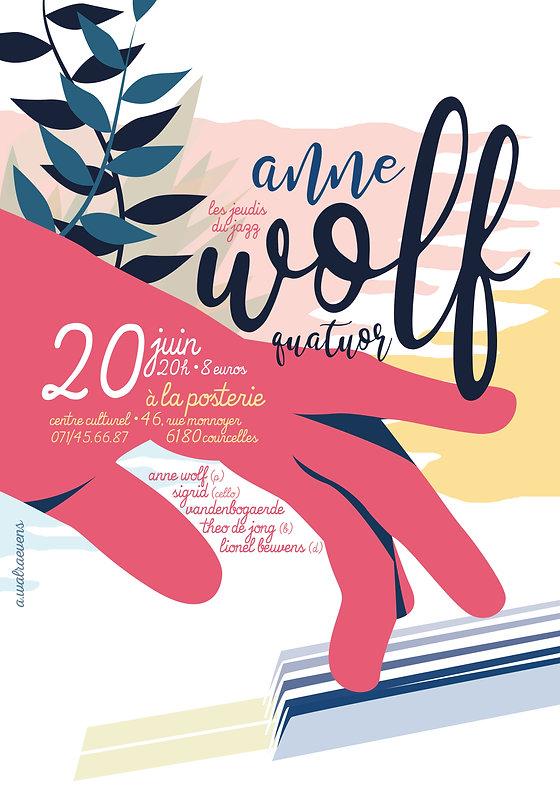 Affiche Anne Wolf Quatuor