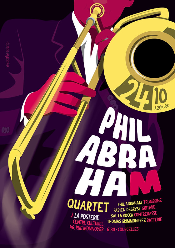Affiche Phil Abraham Quartet