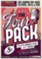 Affiche pour le concert du Four Pack autour de chansons américaines, italiennes et françaises