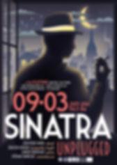 Affiche pour le concert de Sinatra Unplugged - Répertoire jazz de Frank Sinatra