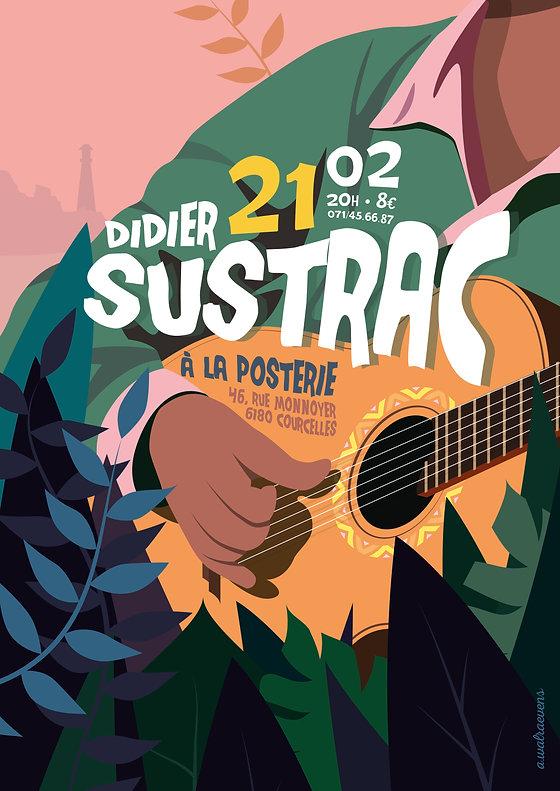 """Affiche """"Didier Sustrac"""""""