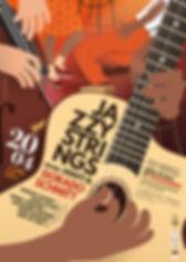 Affiche pour le concert jazz manouche avec Jazzy Strings, Dorado & Amati Schmitt