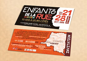 Invitation pour le concert et le vernissage de l'exposition