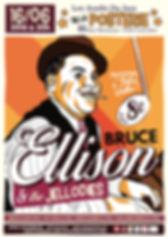 Affiche pour le concert de Bruce Ellison & The Jellodies en hommage à Fats Waller