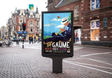 Simulation de l'affiche en rue