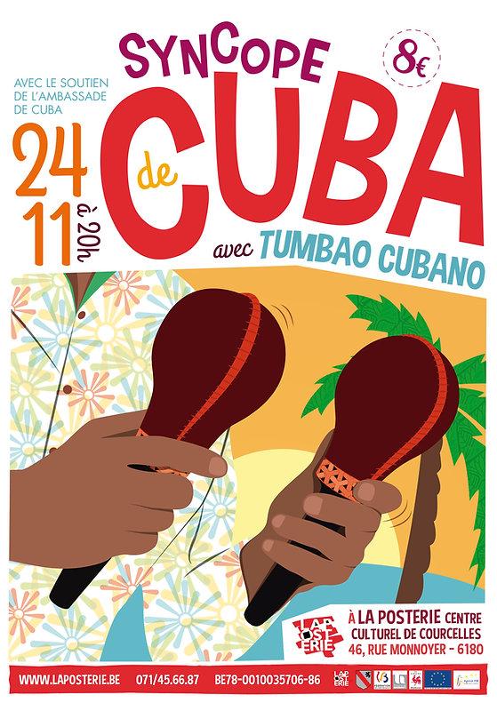 Affiche pour le concert de musique cubaine du groupe Tumbao Cubano (3)