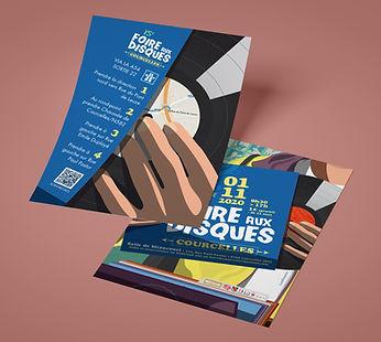 Flyer Mock-up 15ème foire aux disques de Courcelles