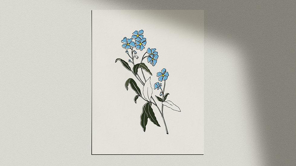 """""""Fleur Bleue"""" Giclée Print"""