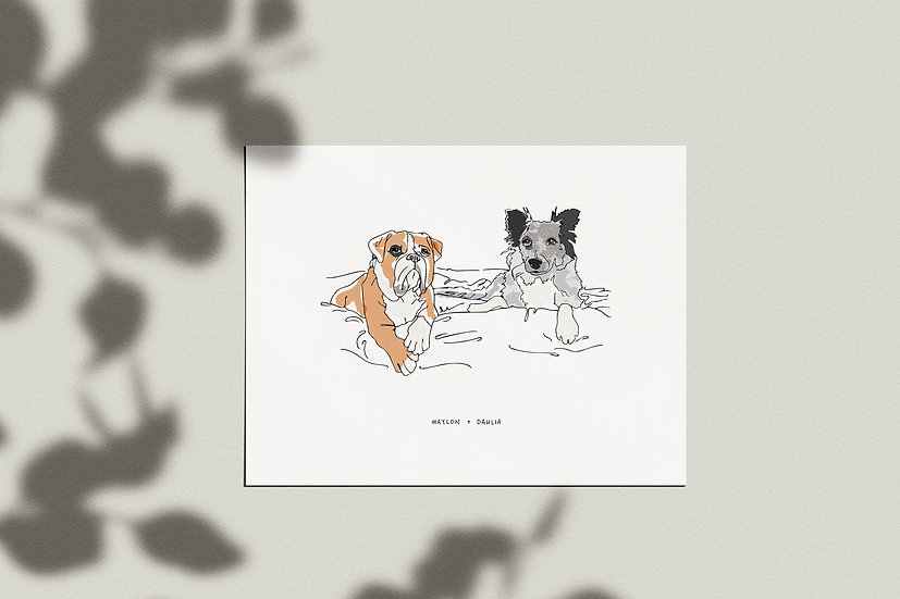 Custom Pet Portrait - Giclée Print
