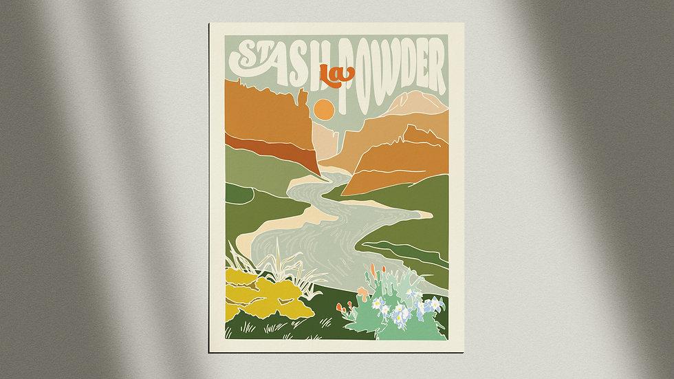 """""""Stash La Powder River"""" Giclée Print"""