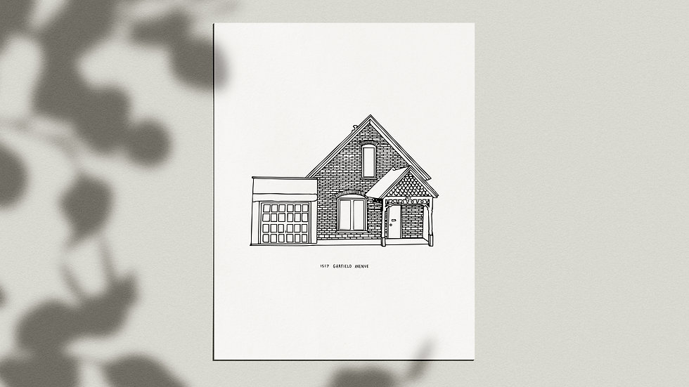 Custom Home Portrait - Giclée Print