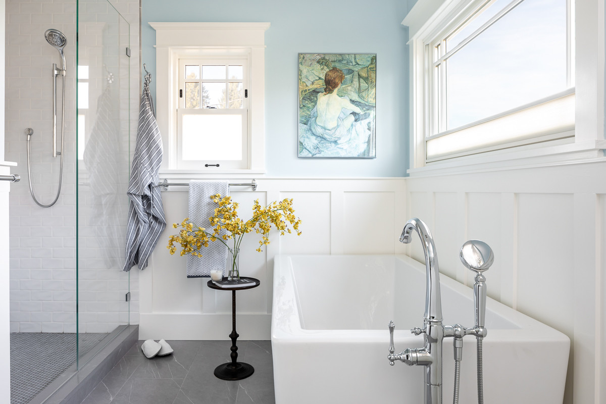 Relaxation never looked so good. Our Master Bathroom, voted Bathroom of the Week for design by Houzz.