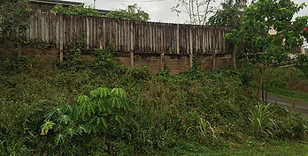 Retaining Wall Before | AAA Landscaping & Property Maintenance Cairns - Earlville - Gordonvale - Edge Hill - Trinity Beach - Palm Cove - Smithfield - Redlynch | Fencing & Gates