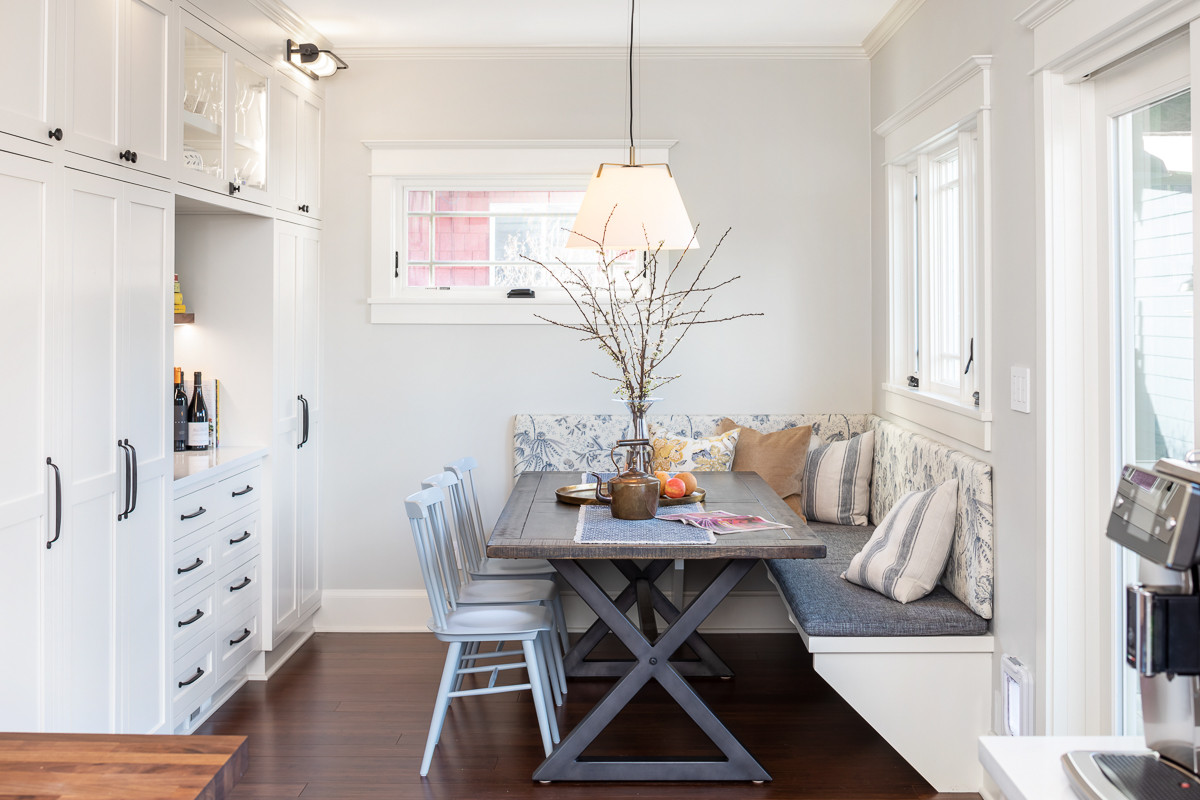 """""""Inevitably the favorite gathering spot in the house, breakfast nooks are my favorite space to design."""" -Raina"""