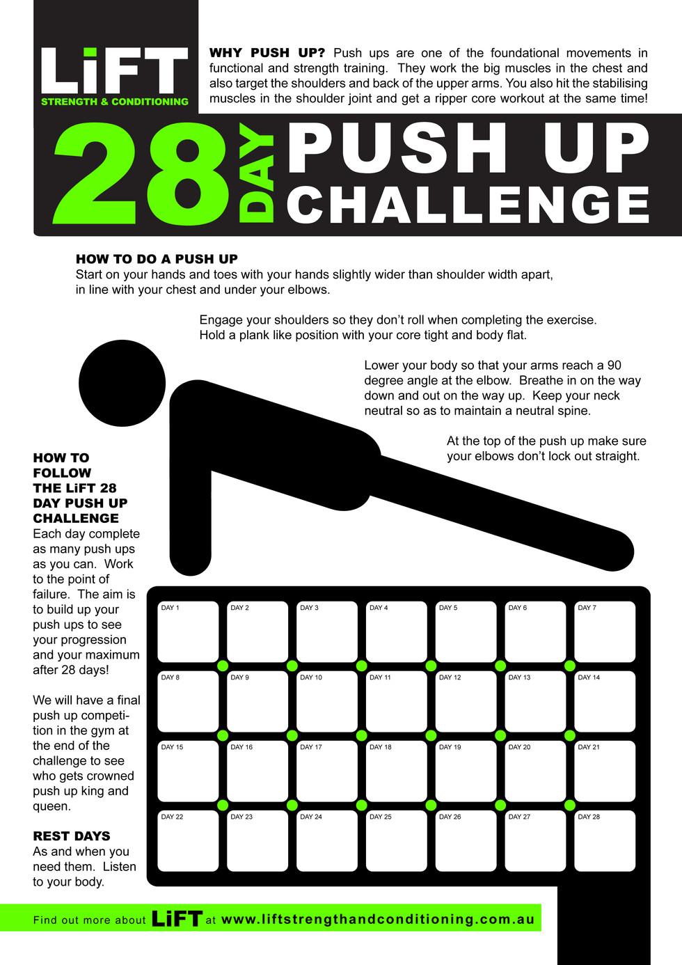 LiFT PUSHUP CHALLENGE