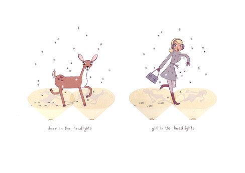 Girl in the Headlights