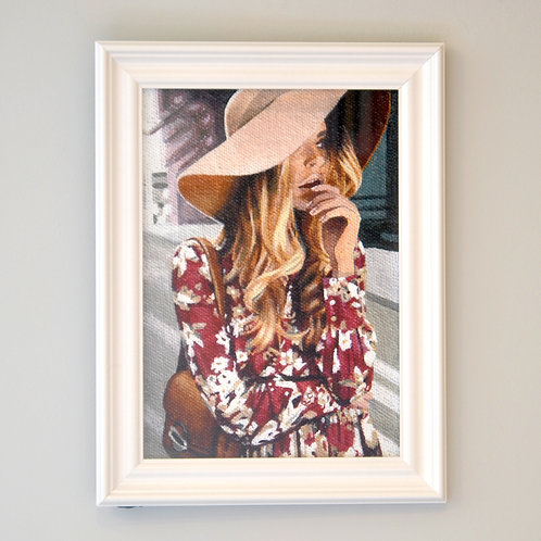 Lost in the City Framed Print