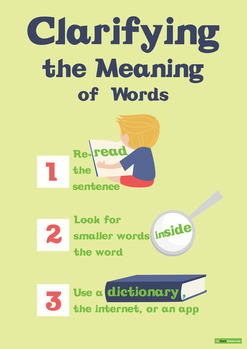 Clarify the Meaning Poster