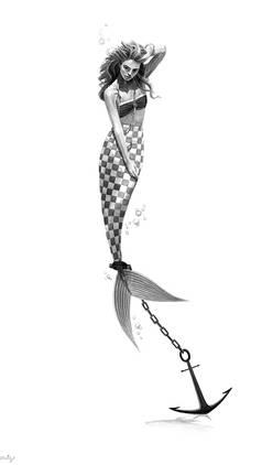 Anchored Mermaid- Despair