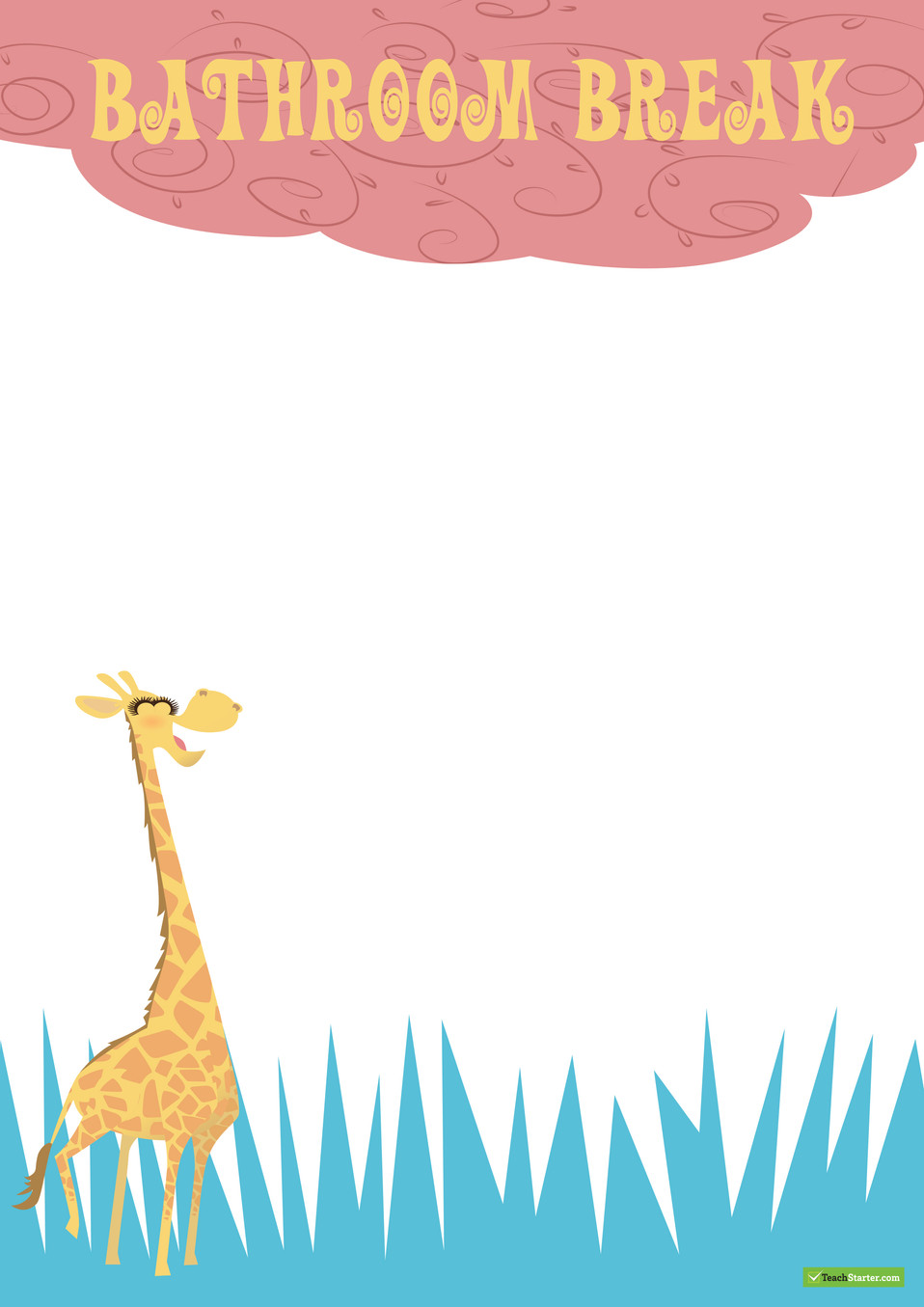 Giraffe Classroom Pack Page