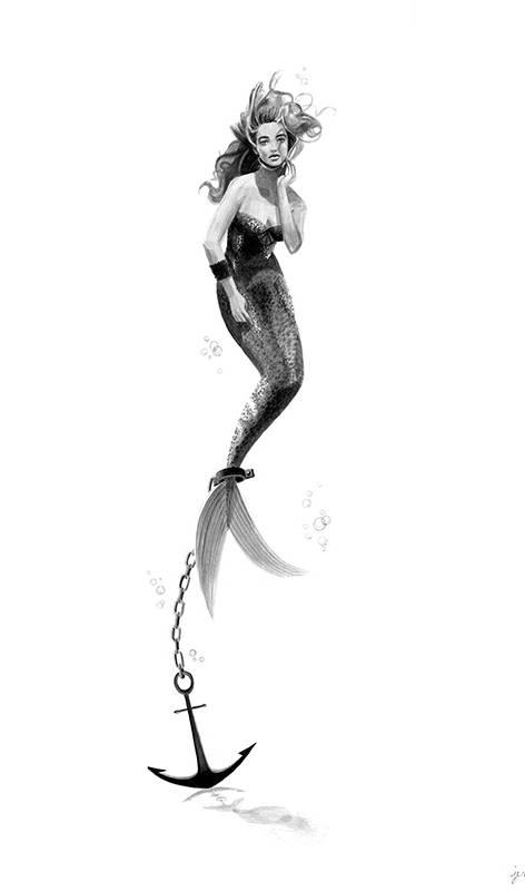 Anchored Mermaid- Distress