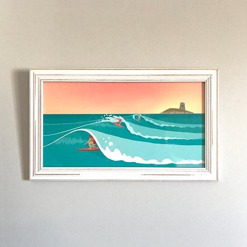 Isola Delle Femmine Framed Print