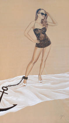 Anchored Pinup- standing