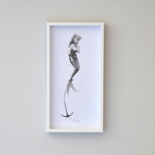 Despair: Anchored Mermaid Framed Print