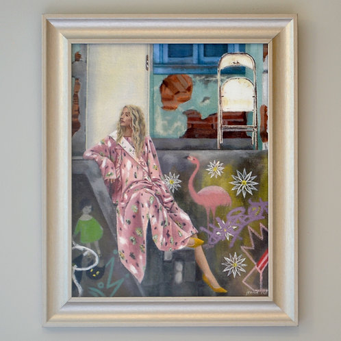 Lost in the Background Framed Print