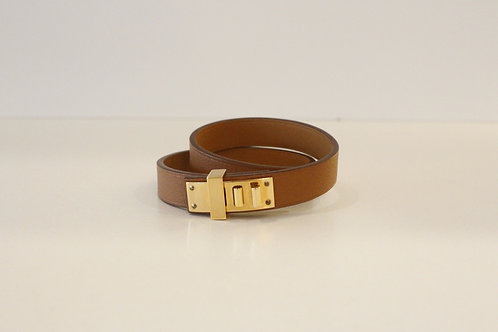 Hermes Mini Dog Double Tour Braclet