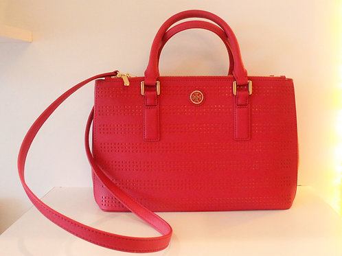 Tory Burch Hot Pink and Orange Accent Tote, NEW!