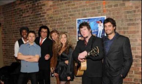 with Max,Peter,me,Terence,Carmela,Derek,Peter