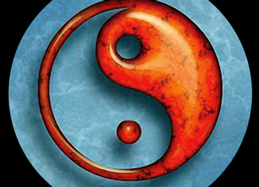Blue and Red Yin Yang