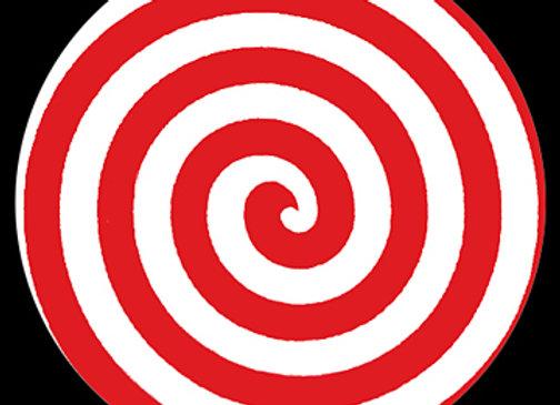 Red and White Swirl