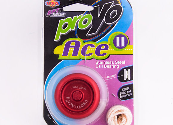 Ace II, 2-Tone Red/Black in Hardback package