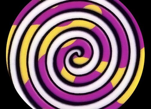 Purple/Yellow/White Swirl