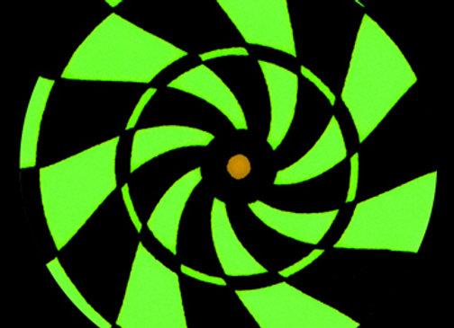 Dizzy Green Swirl
