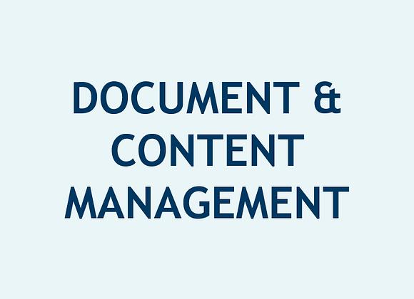 Gestión de Documentos y Contenidos (U$)