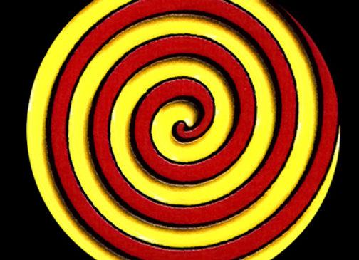 Yellow/Red Swirl