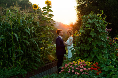 Mountain House Estate Wedding Sunset Cou
