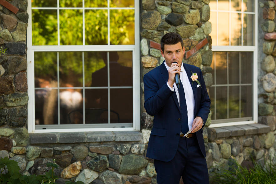 Mountain House Estate Wedding Reception.