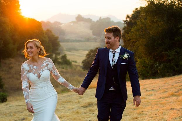 Mountain House Estate Wedding Sunset Cou