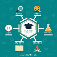 colorful-education-concept-with-flat-des