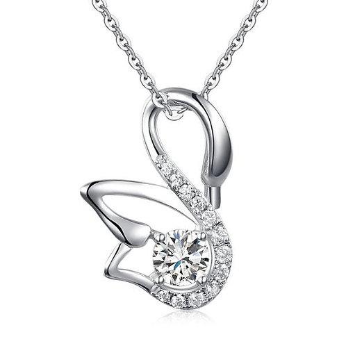 Swan Pendant Necklace